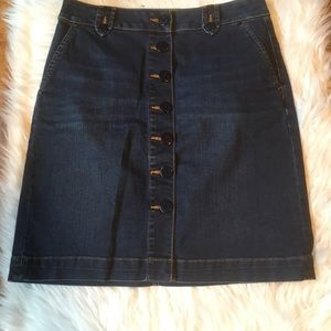 Talbots denim skirt 6